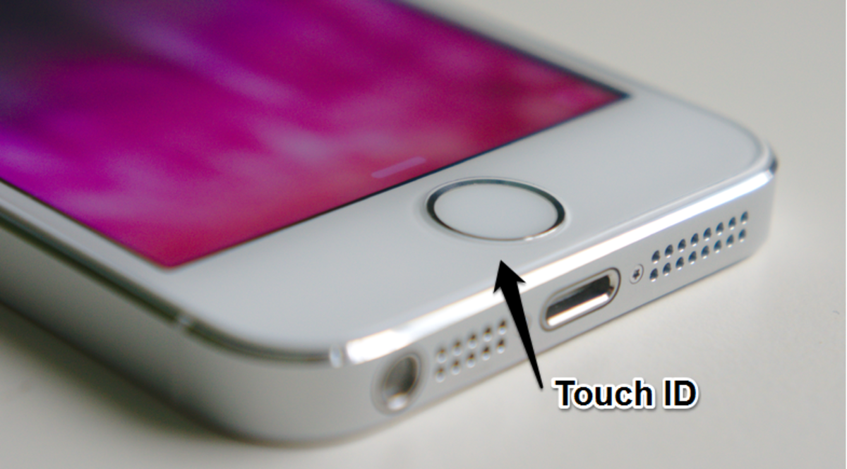 Touch ID biometric sensor in iPhone