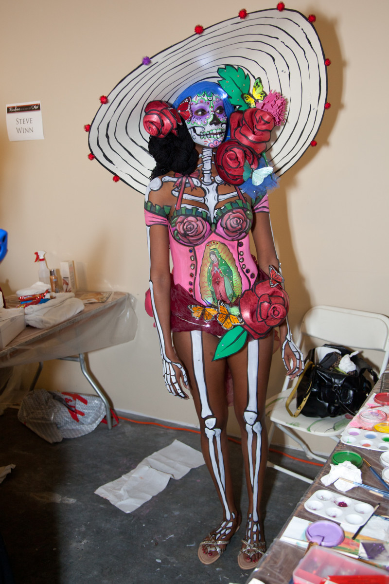 The winner in a Body painting Show for Charity.