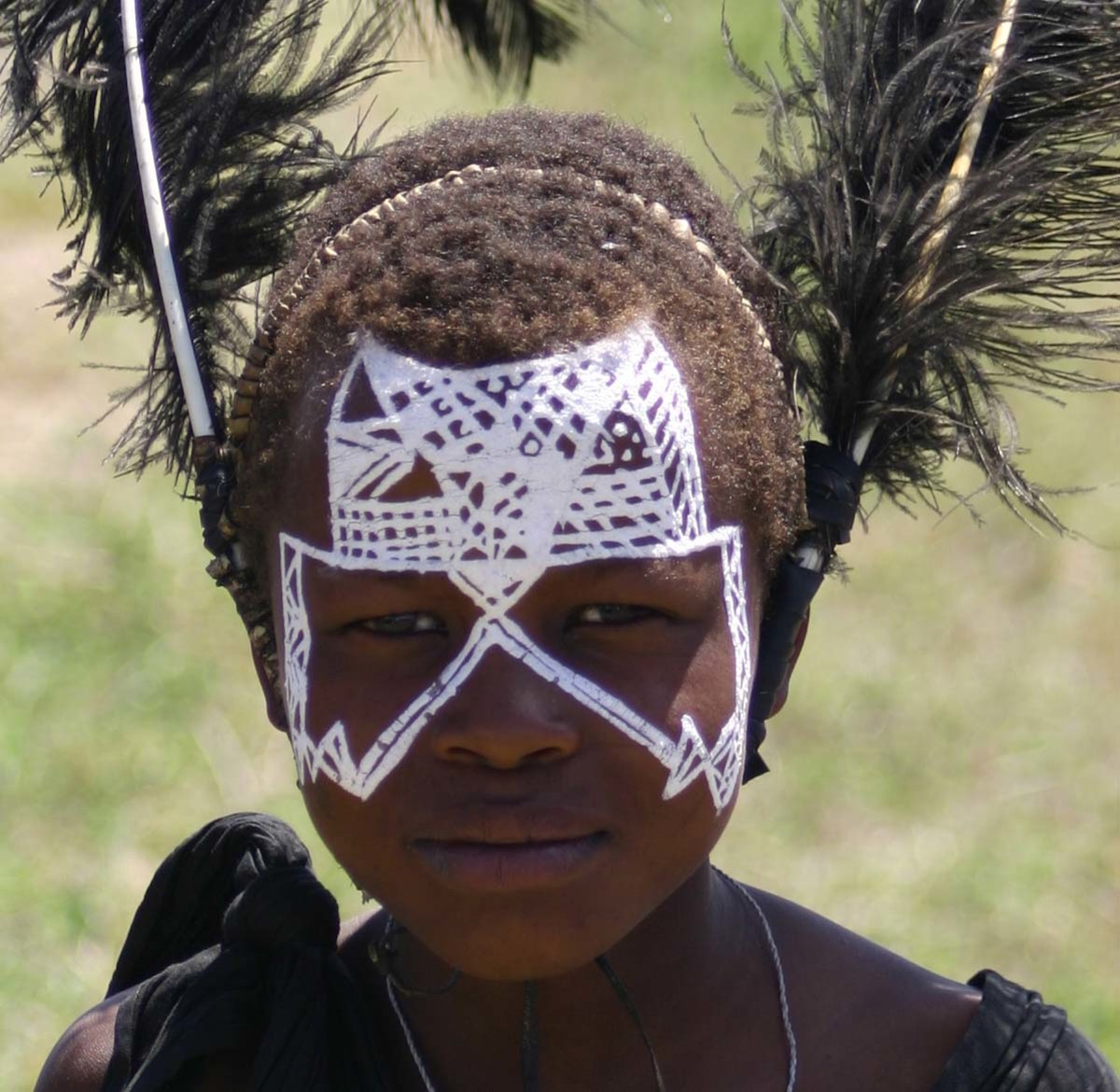 many tribes in parts of Africa include body painting as a tradition and custom.