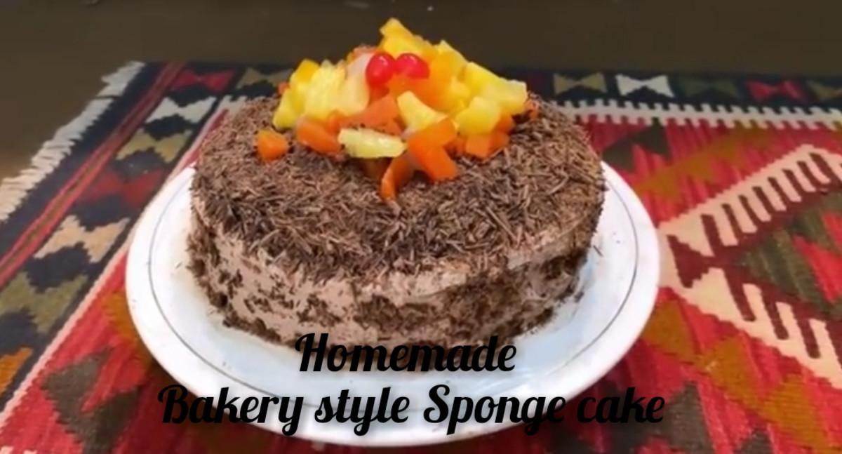 Bakery Style Fluffy, Moist and Yummy Chocolate Sponge Cake homemade Recipe