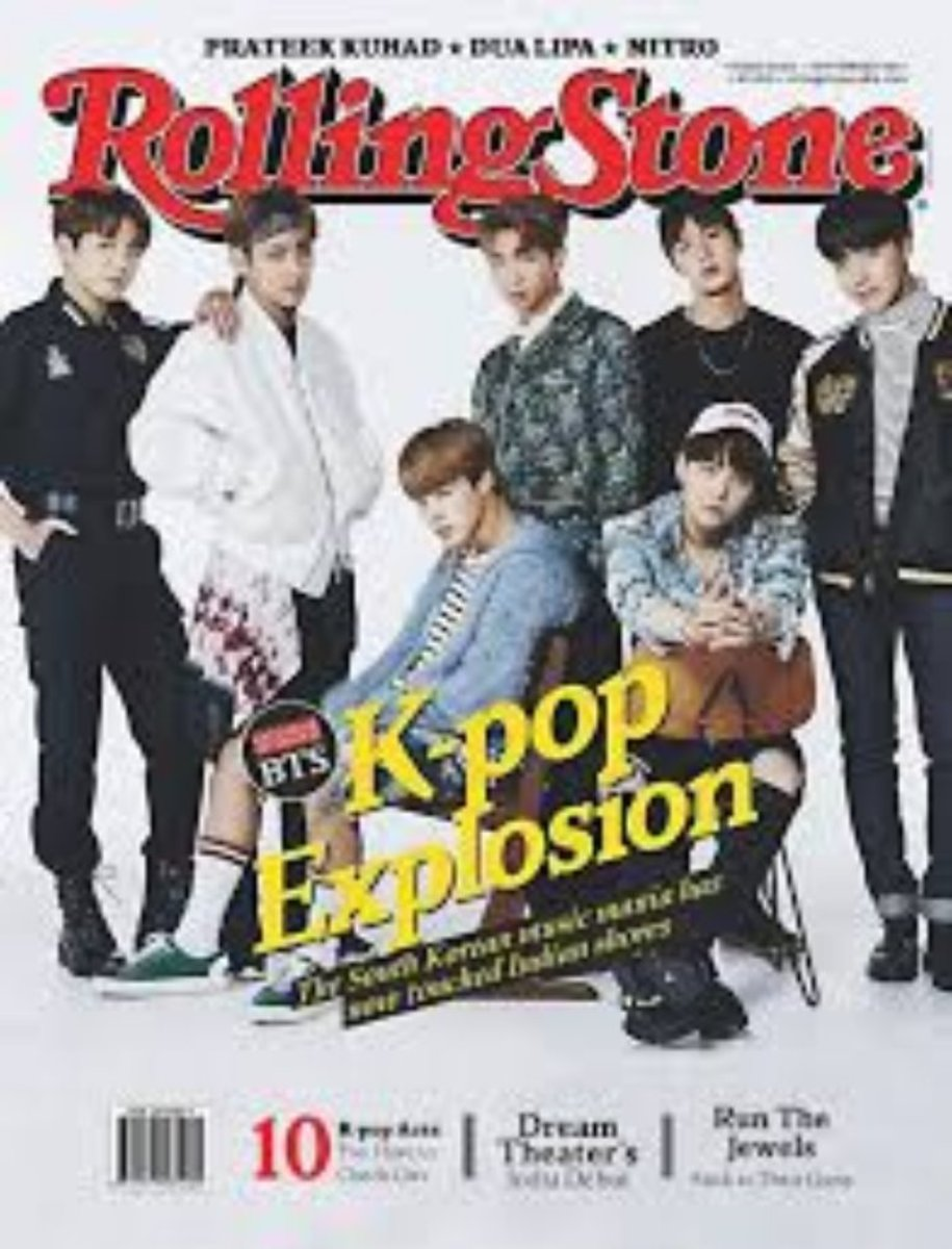BTS featured on the Rolling Stones magazine