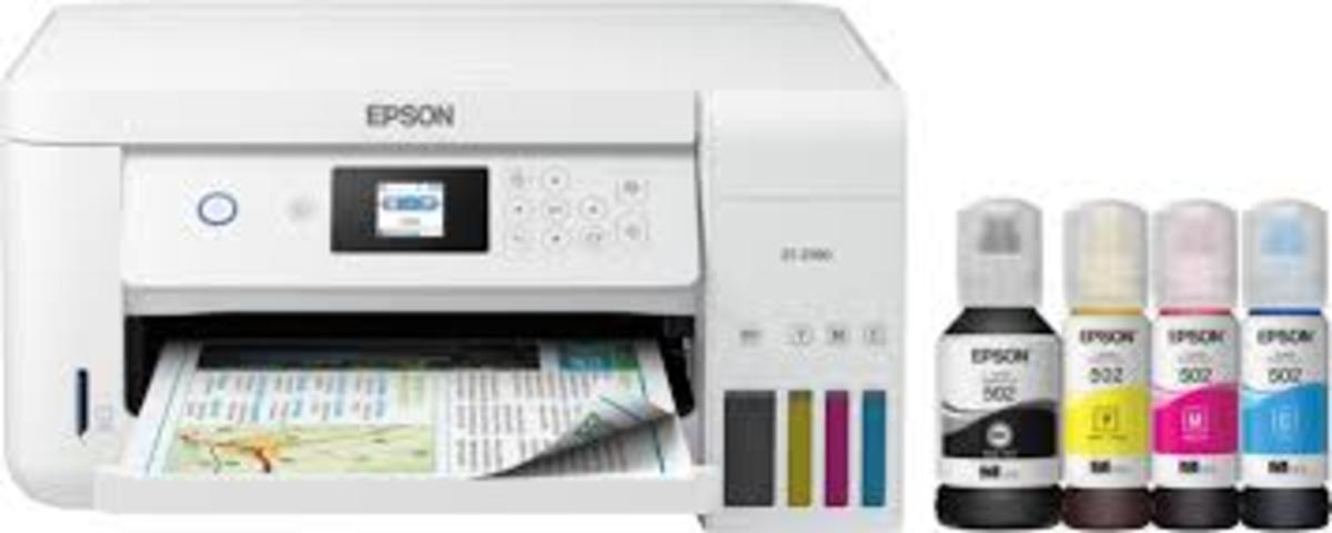 Ink jet printers used fluid inks