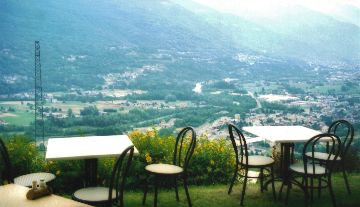 View during a farewell lunch in Valtellina