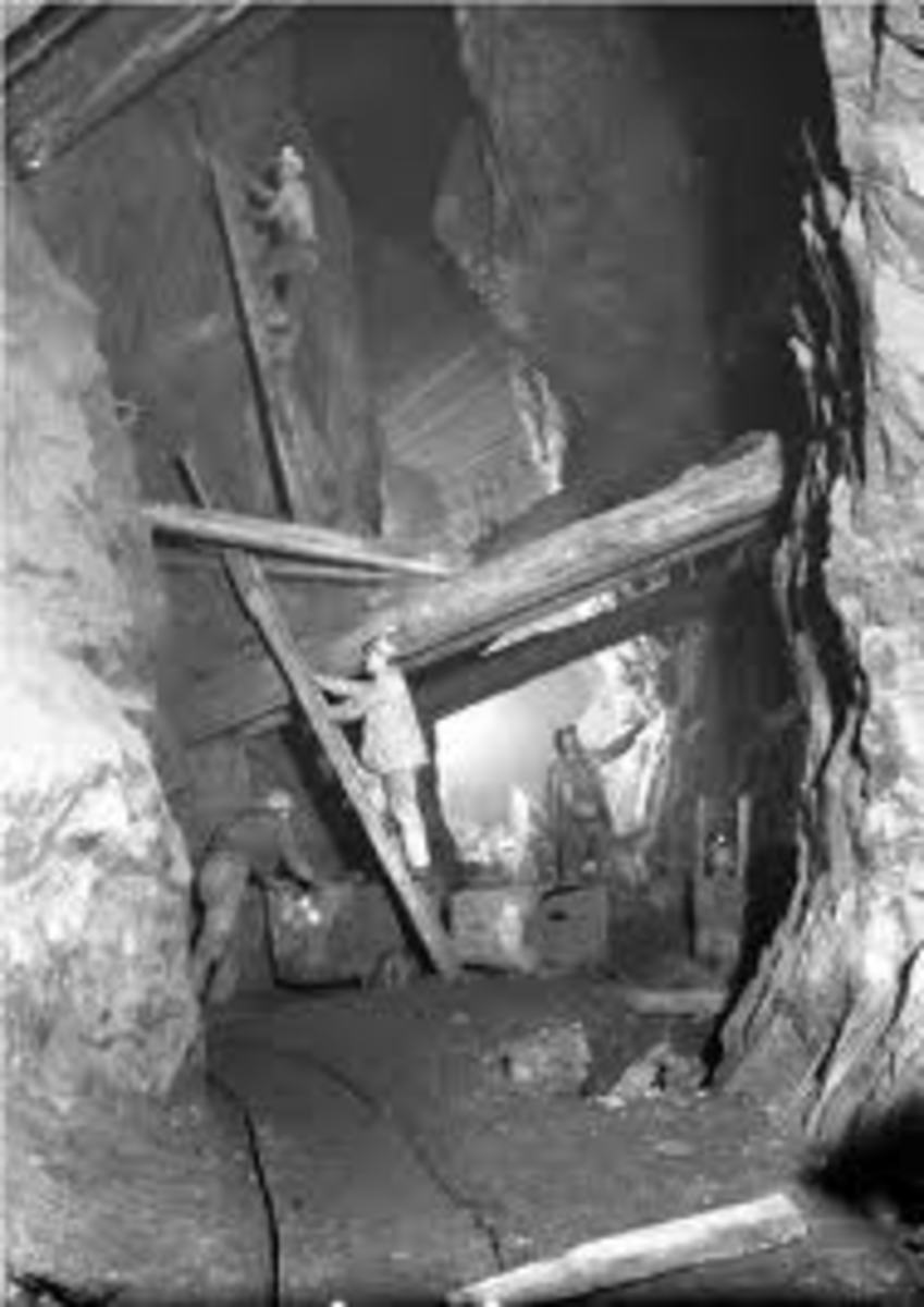 typical mine ladder