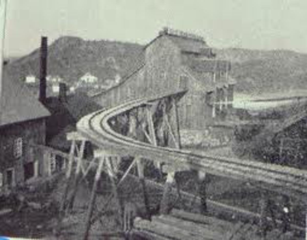 Ropes Gold Mine in the late 1800's