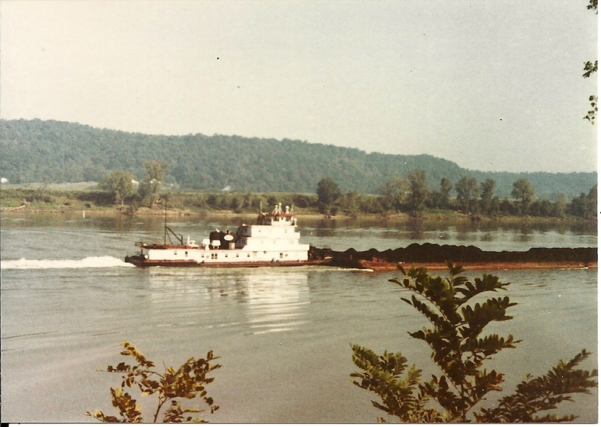 Photo of a river barge.