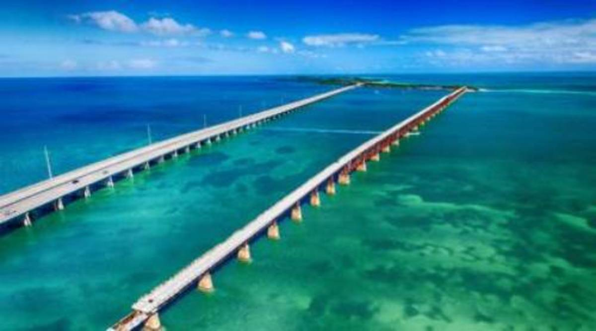 One of the most scenic drives in the Big Seven Travel is the Overseas Highway, which links Miami and Key West. The stretch of U.S. 1 on the journey, the blue waters.
