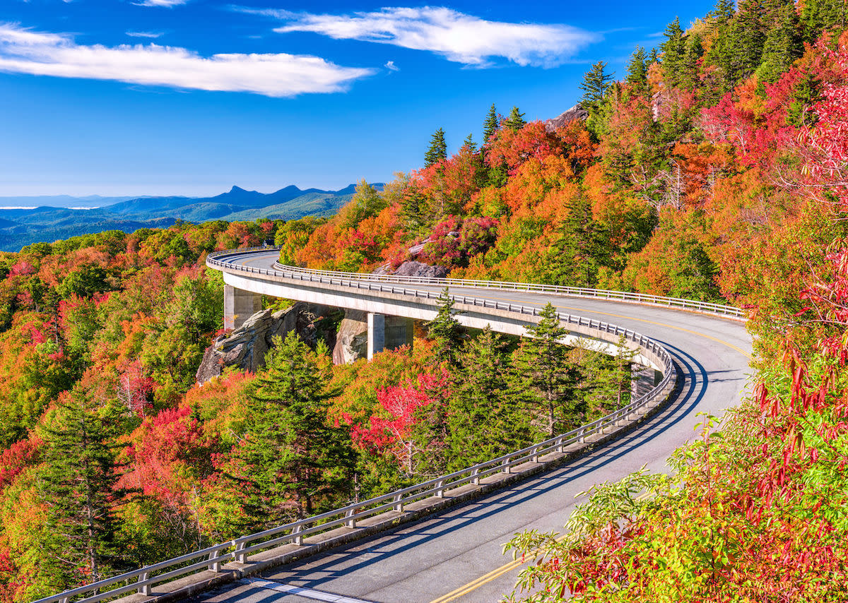 The Blue Ridge Parkway, one of the most famous road trips in the United States, runs through some of the Southeast's most spectacular scenery and interesting historical sites.