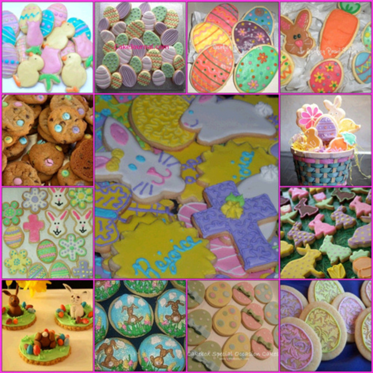 DessertLover2010's Easter Cookie Collage from Flickr
