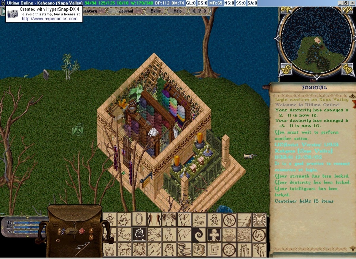 One of my first houses in Ultima Online.