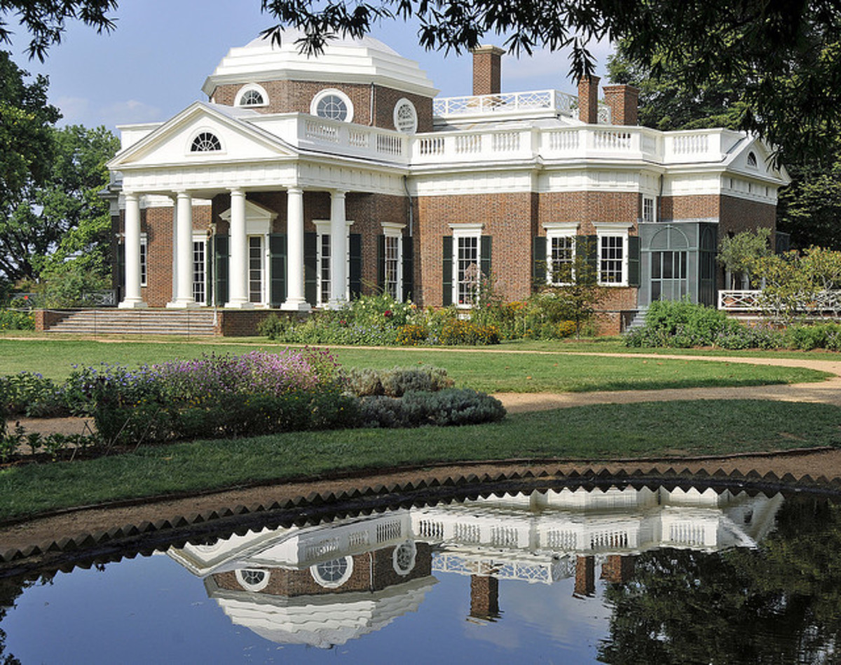 Monticello, Jefferson's mansion in Virginia, which he designed.