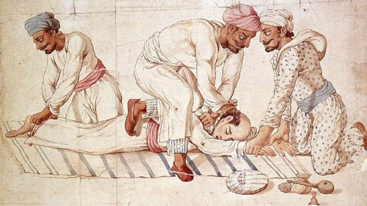 The Thugs or Thuggees were history's most notorious and deadly criminal cult, who preyed upon travelers along the highways until the end of 19th century India.