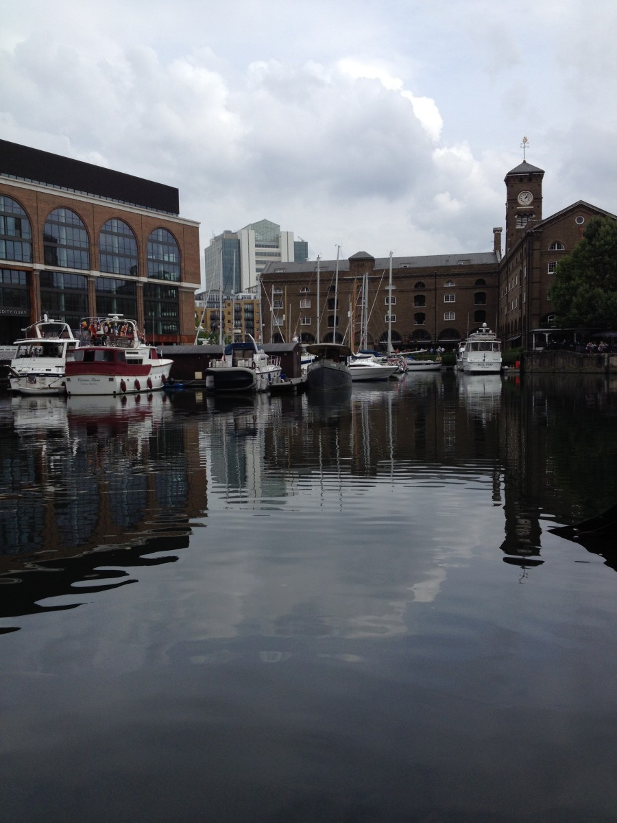 St Katharine Docks - aka St Catherine's Dock is a quiet place to visit near The Tower of London.