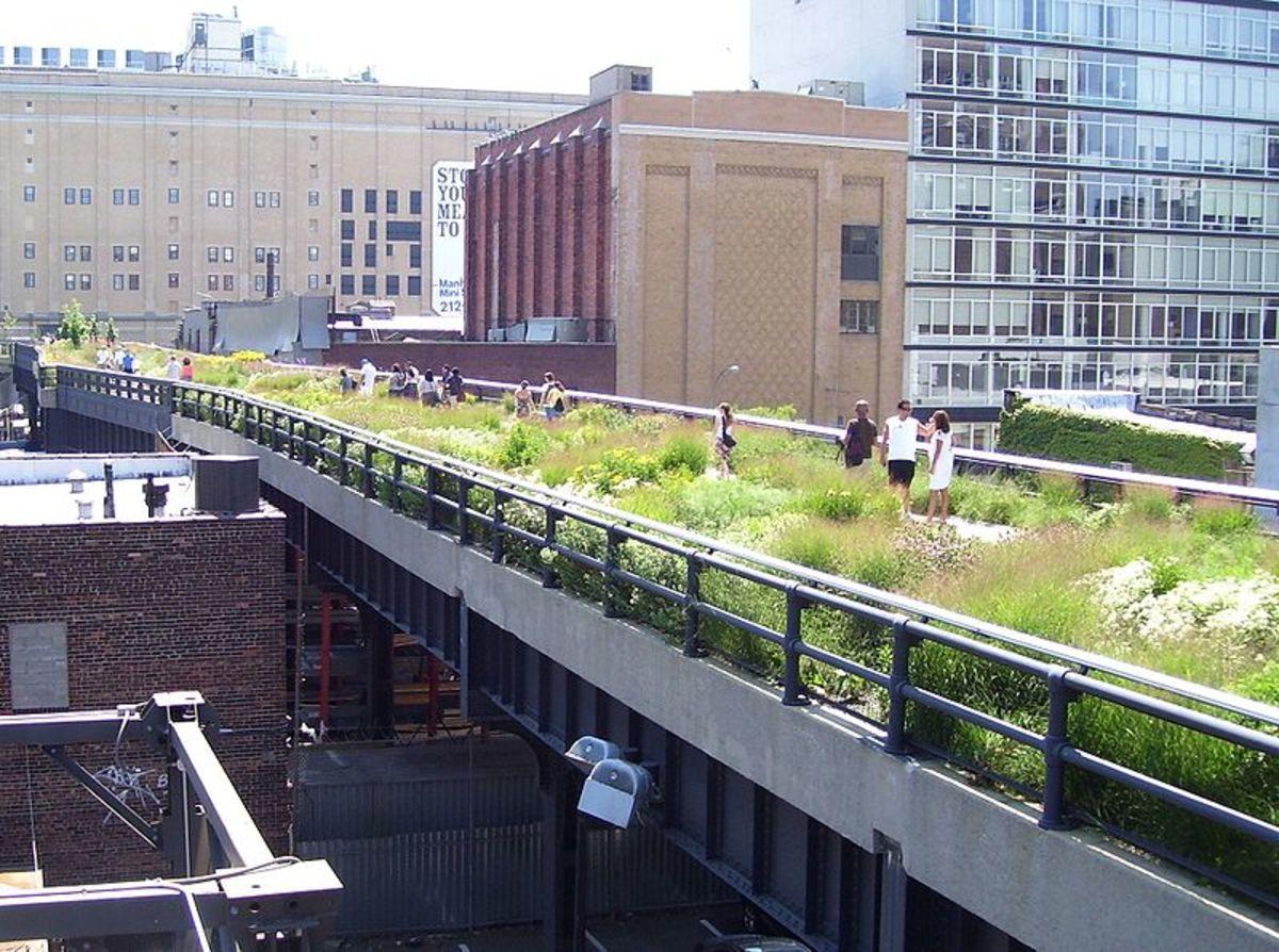 New York City's High Line Park at 20th Street