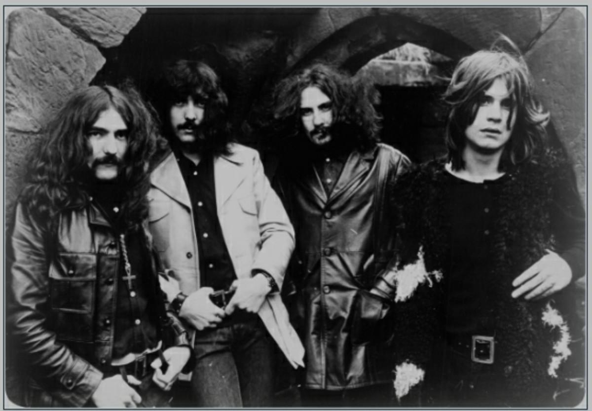 Ozzy Osbourne (right) with Black Sabbath in 1970.