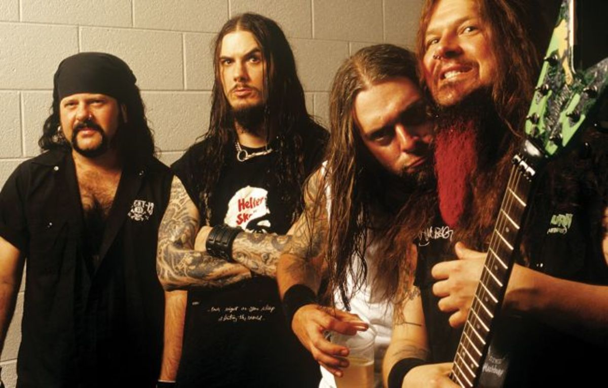 From left to right: Vinnie Paul, Phil Anselmo, Rex Brown and Dimebag Darrell
