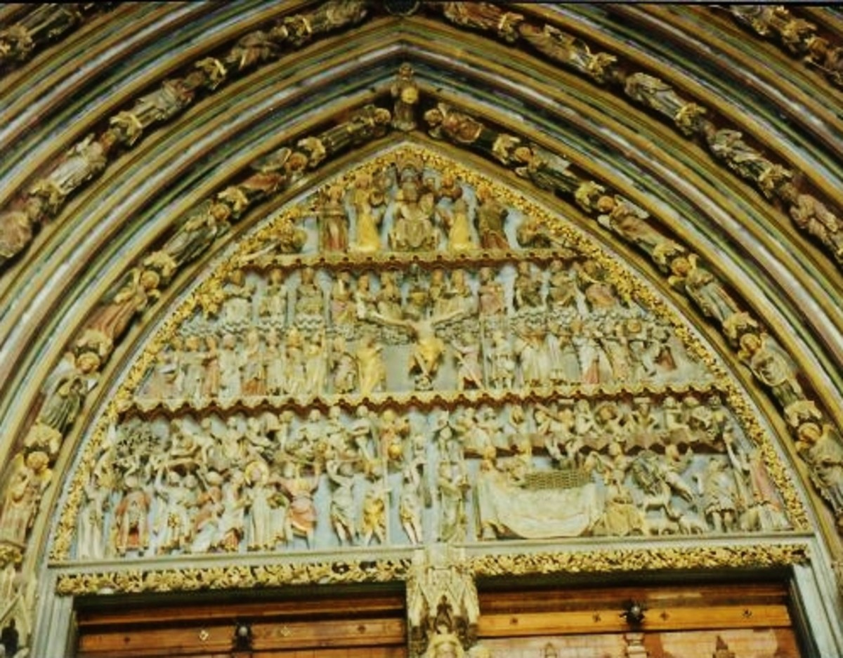 And more carvings on The Minster Church in Freiburg, Germany