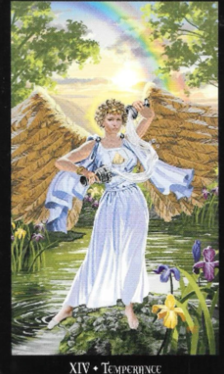Temperance is a reminder that fire energy must be balanced. There are neutral places.  You can temper your aggression. Living in balance will give you better results.
