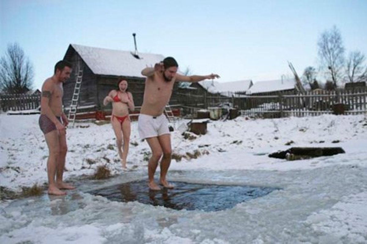 Contrasting temperatures are one secret of the Russian sauna.
