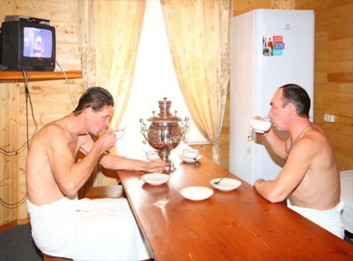A cup of hot tea after the sauna or between sauna sessions is a great idea.