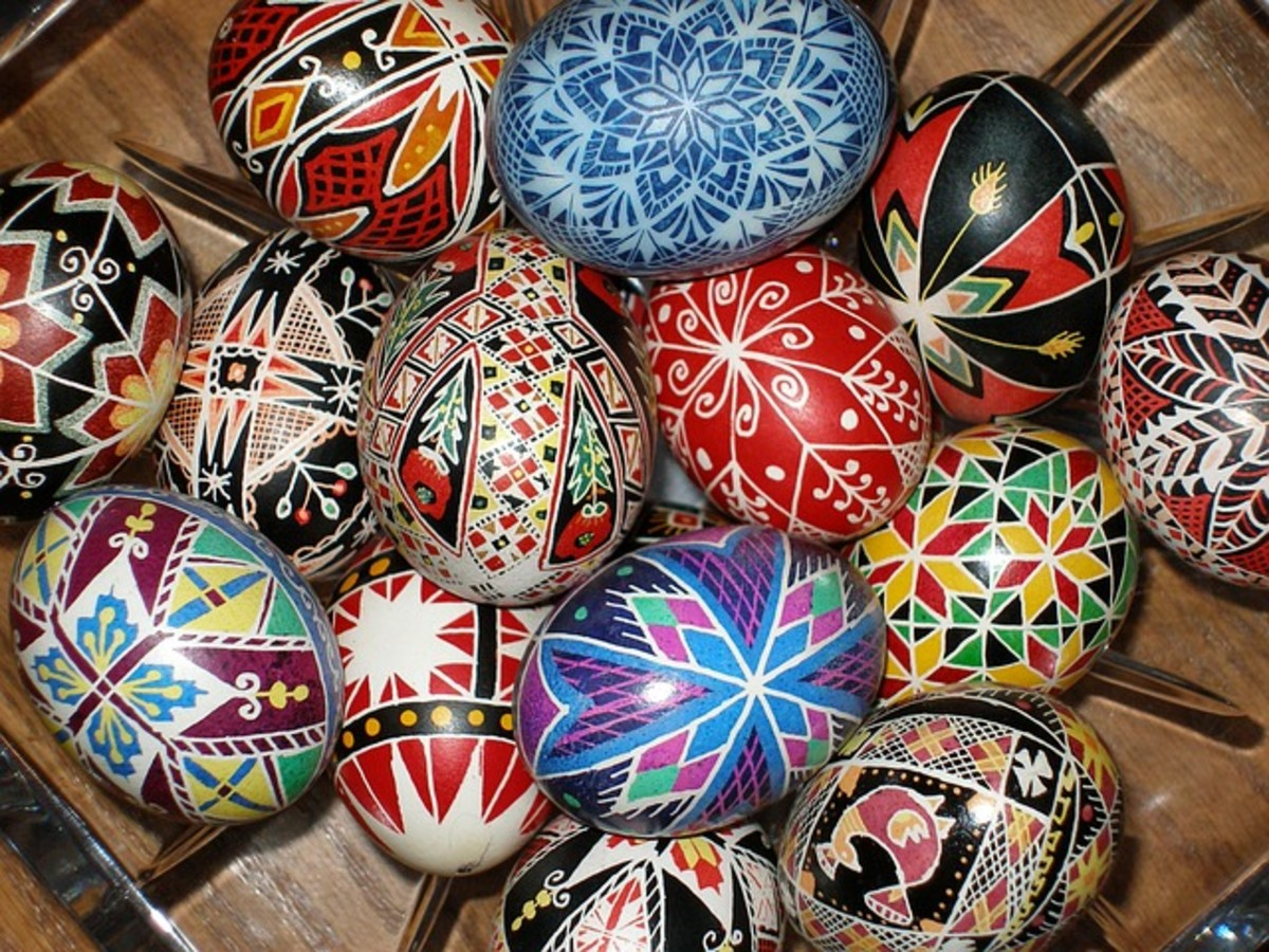 Pysanky is the Polish name for these eggs.