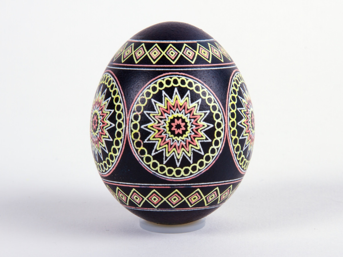 Beautiful Painted Easter Eggs from Poland (AKA Pysanky)