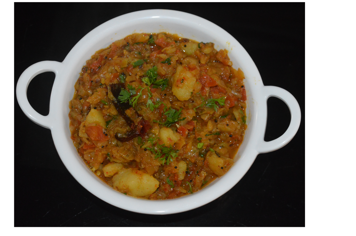 Enjoy eating this delicious curry with cooked rice, poori, chapati, roti, or any other flatbread. Dunk it in the hot curry and enjoy!