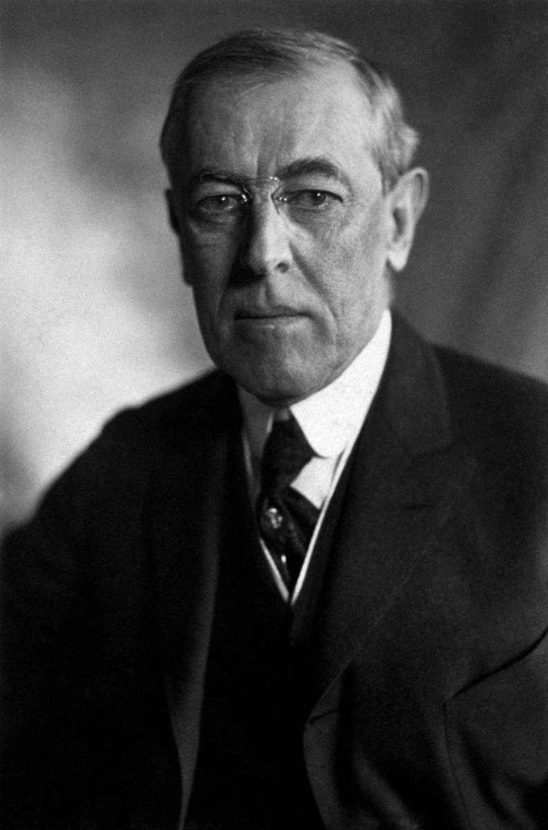 Woodrow Wilson, the American President at the Treaty of Versailles