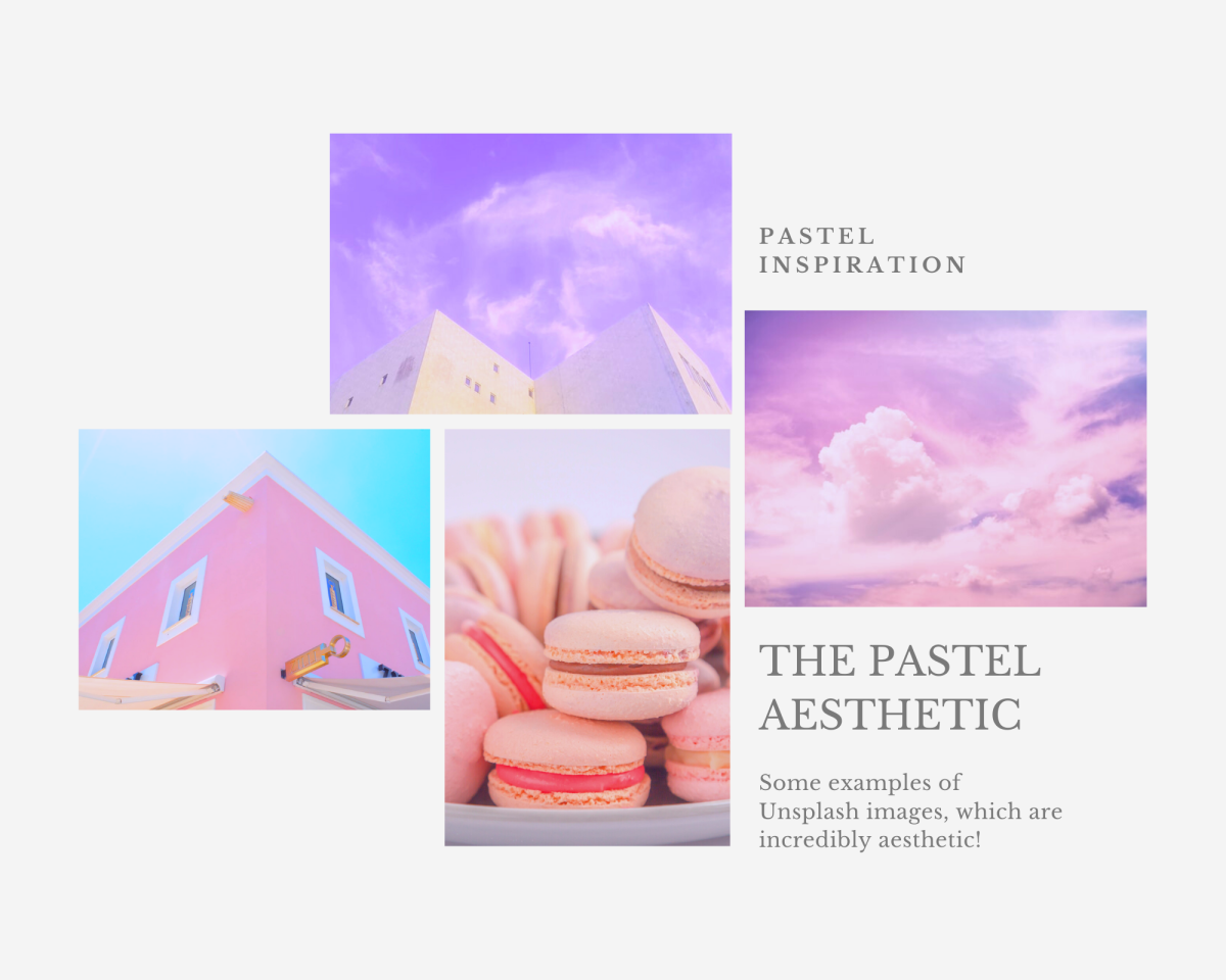 Some examples of pastel aesthetic imagery, all from Unsplash!