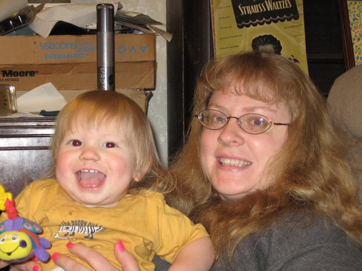 Happy times! With my nephew!