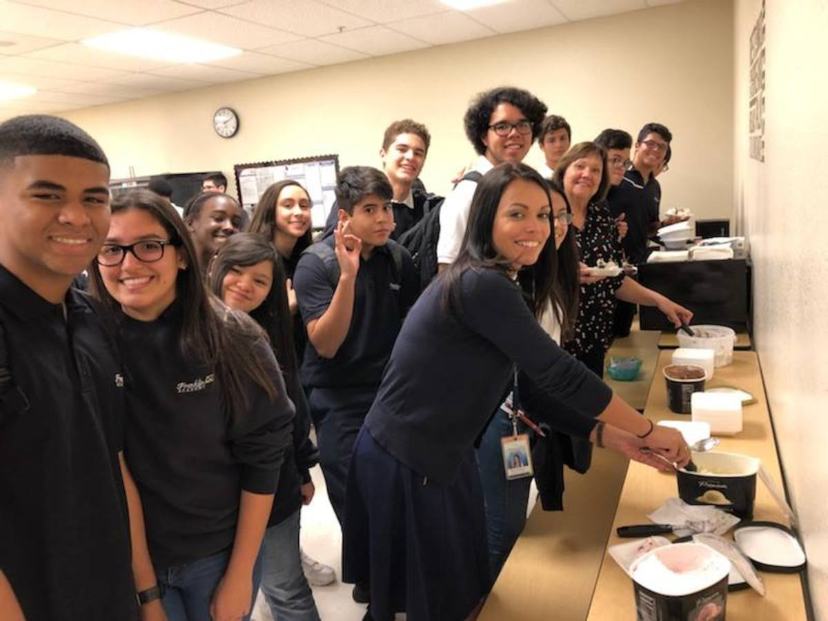 Principal Honor Roll Recipients at our Pembroke Pines (6-12) campus enjoyed an Ice Cream Social for their outstanding achievements!