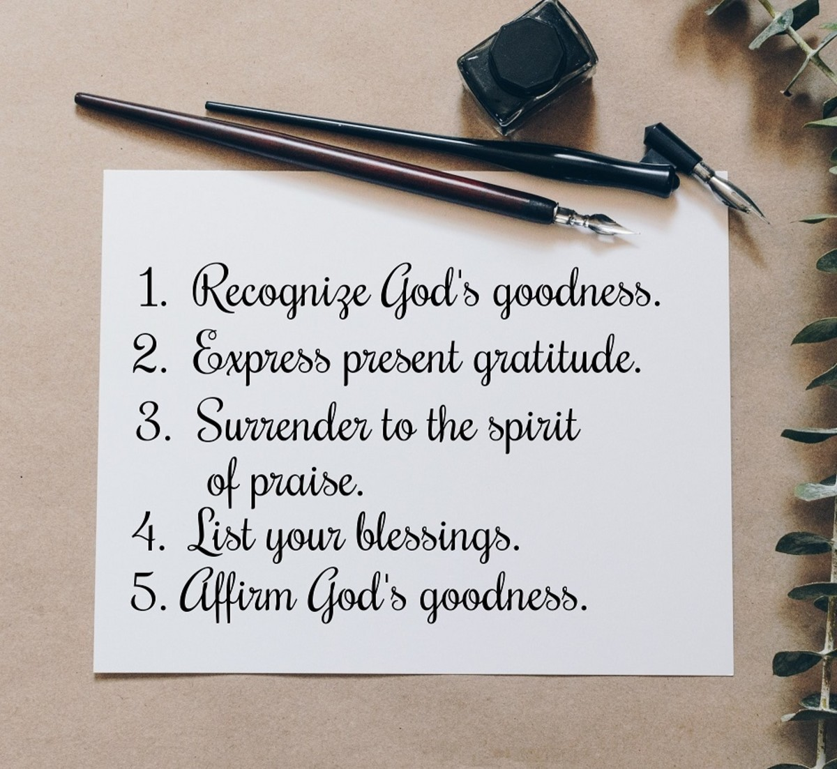 Contents in the psalm of thanksgiving.