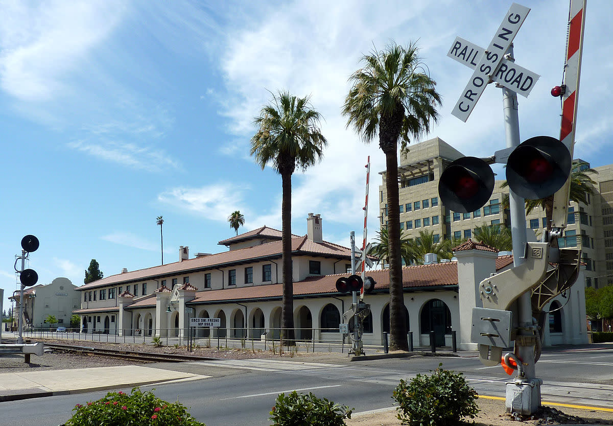 Local train station: U.S. National Historic Place. City leaders are working to bring California High Speed Rail to this station.