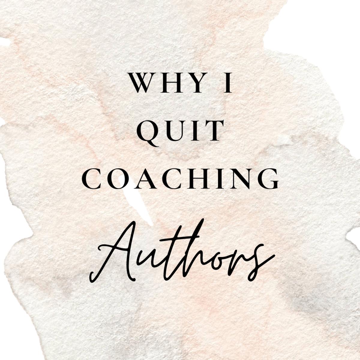 Author coaching isn't easy. I explain why.