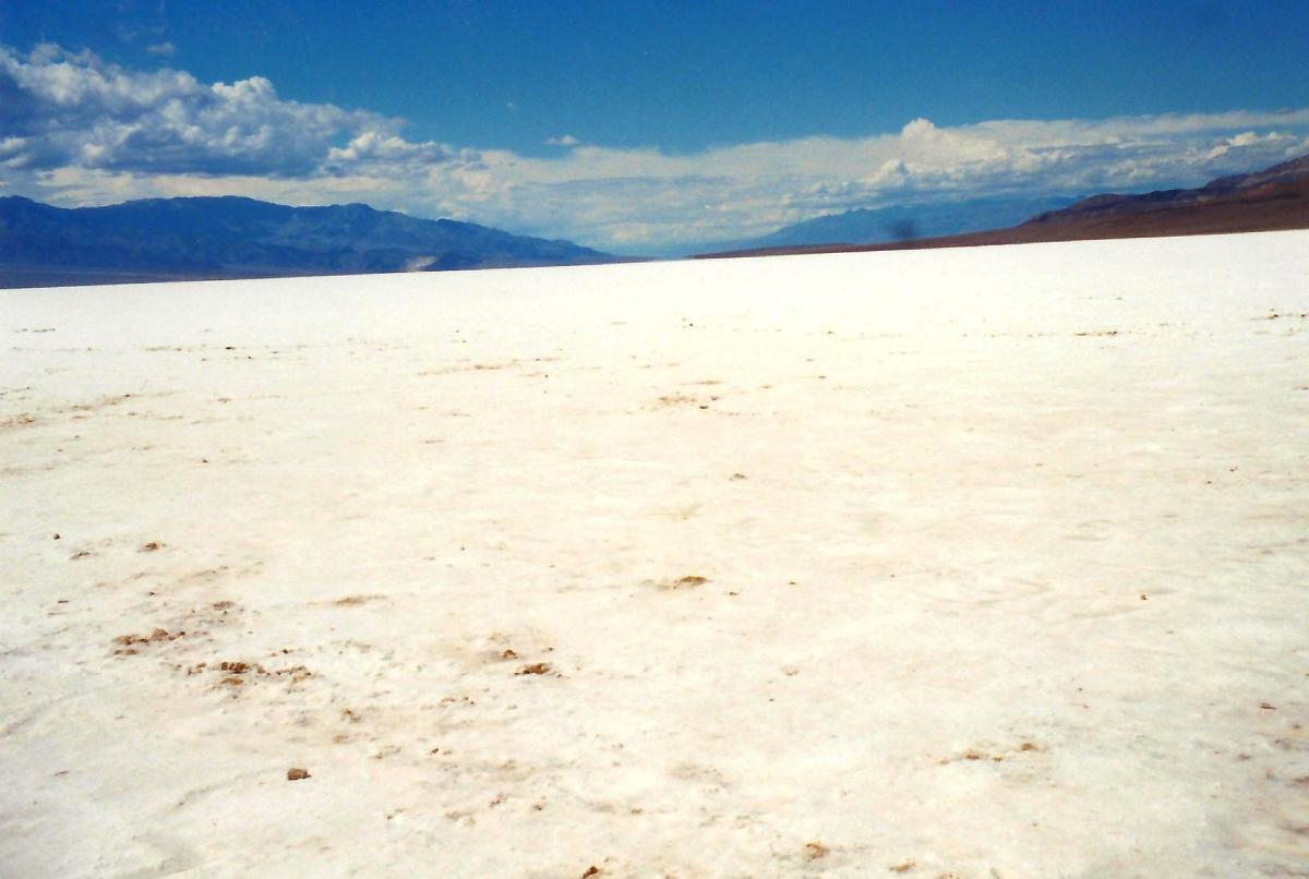 Salt underfoot everywhere in Badwater Basin!