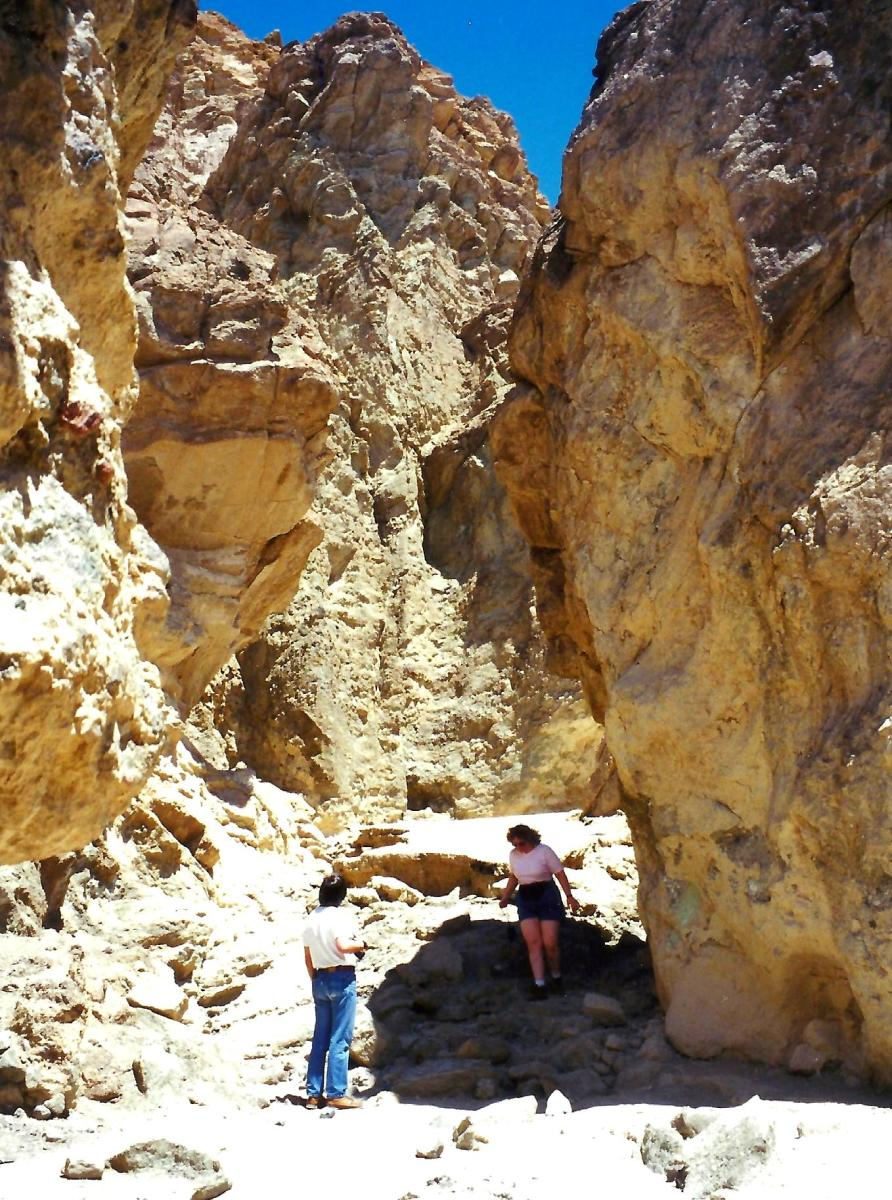 Appropriate name...Golden Canyon in Death Valley
