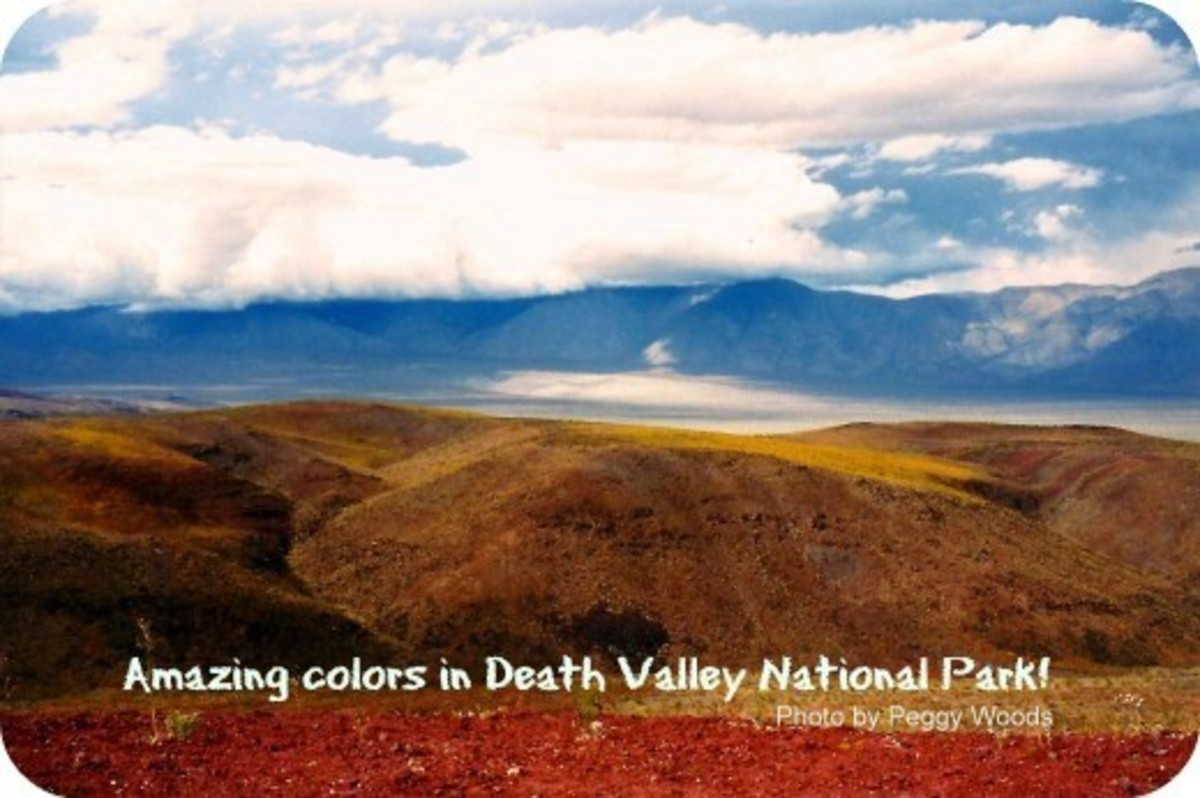 Contrasting colors in Death Valley