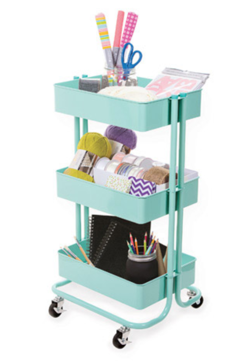 Carts are the perfect way to create your own art station. Everything in one place and organized