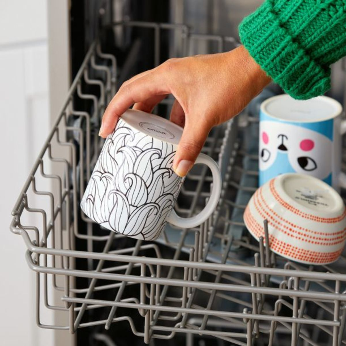 The infusible ink binds to the mug making it dishwasher safe