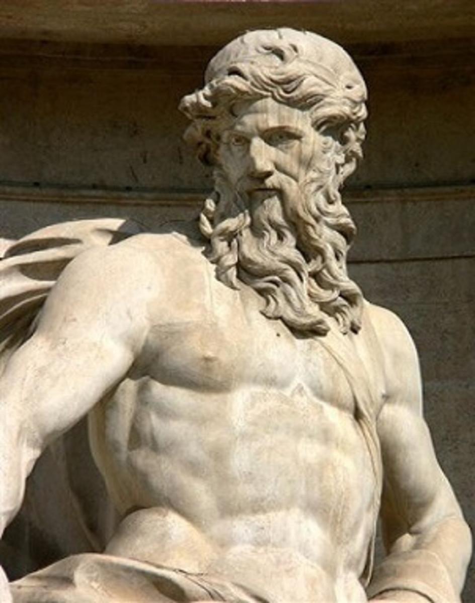 Ancient Greek statue of Odysseus