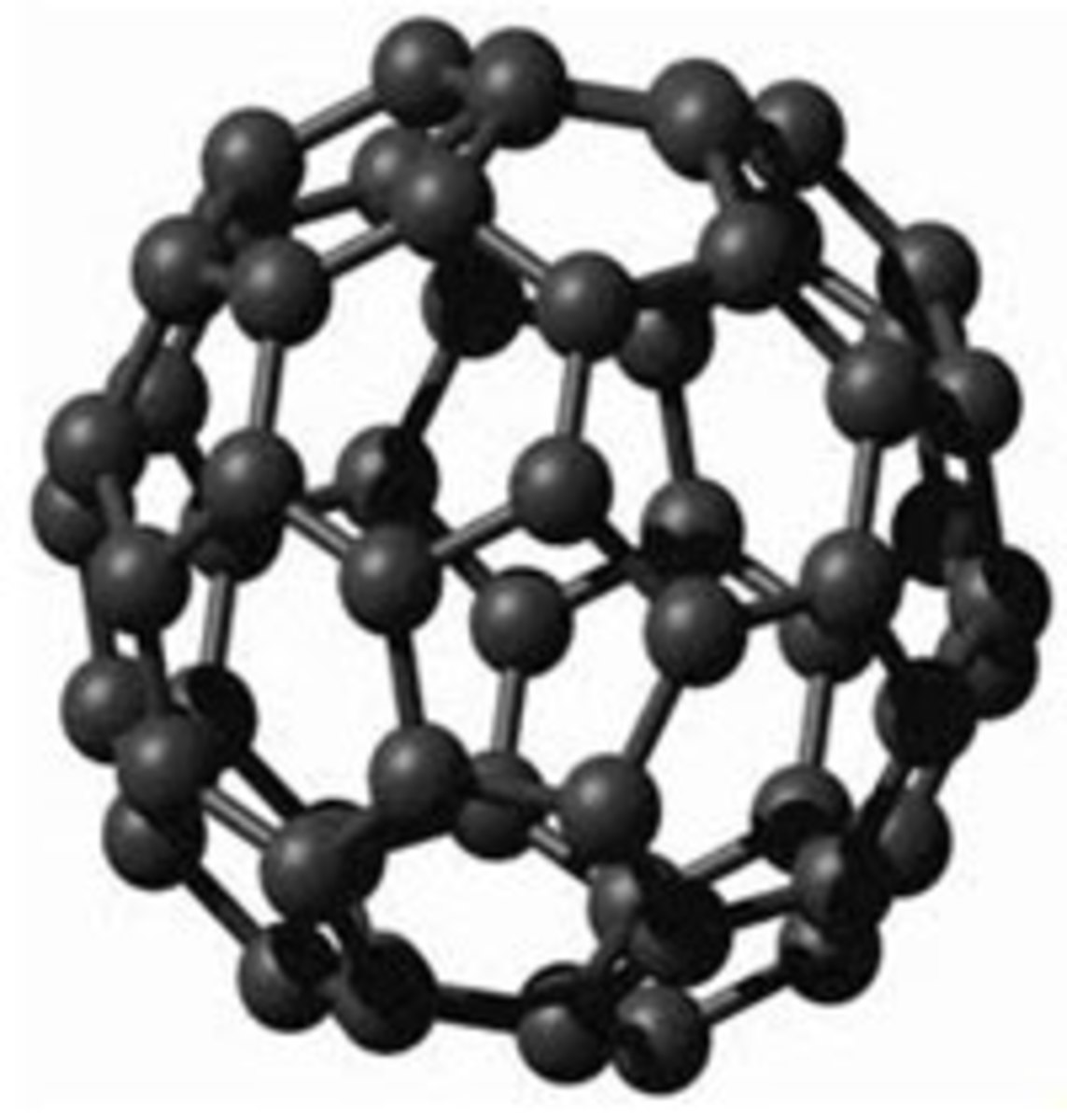 This is the basic shape of a Shungite fullerene enlarged. Fullerenes resonate in the far infrared spectrum with all forms of living matter.