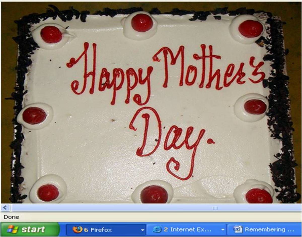 Make every day a Mother's Day! Nothing fancy or on a shoestring budget? A birthday cake could say a lot about your love for her.