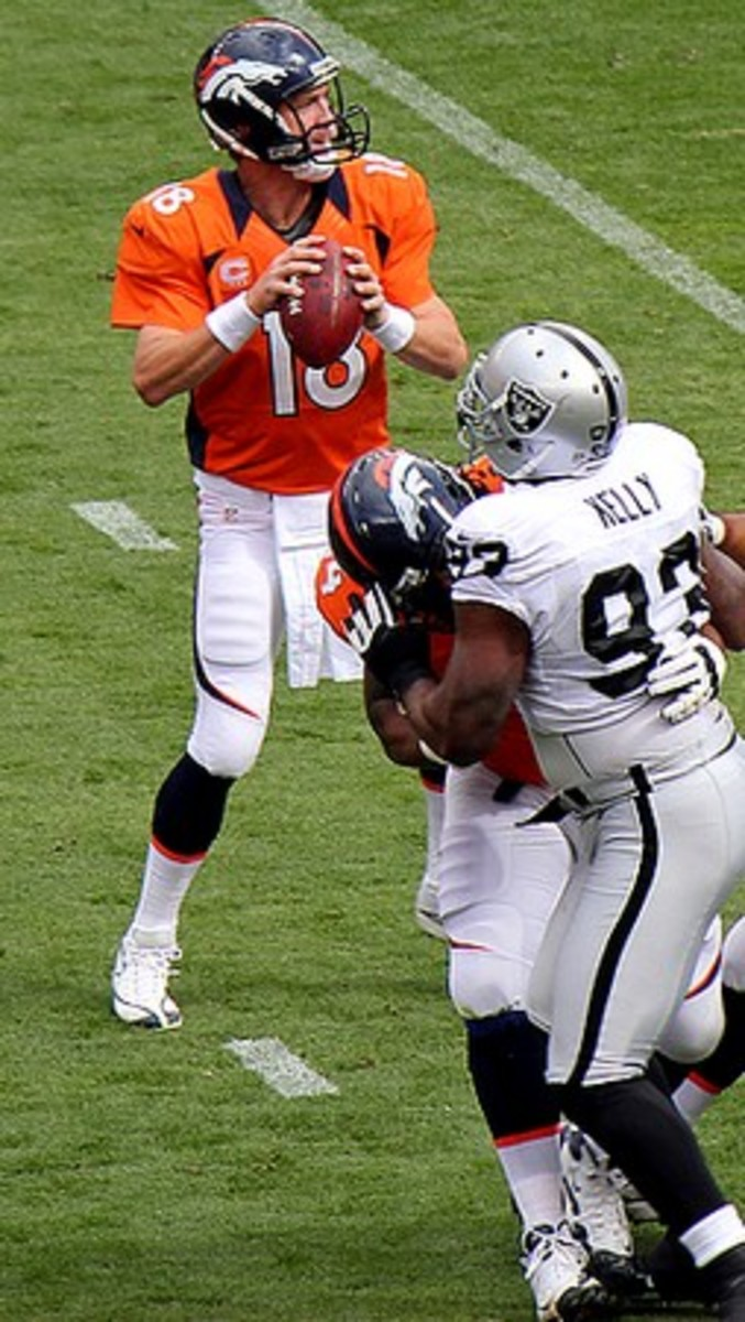 The Broncos vs Raiders in 2014 with Peyton Manning at quarterback