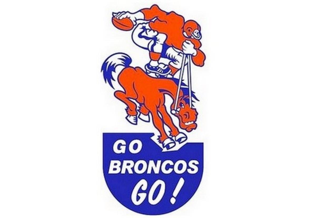 Denver Broncos 1960s Bumper Sticker