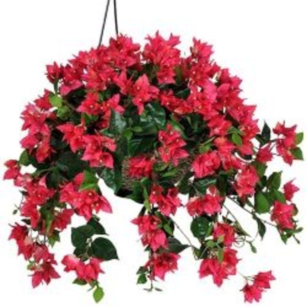 Artificial Hanging Flower Bushes, Baskets & Potted Plants | Summer Decor Ideas