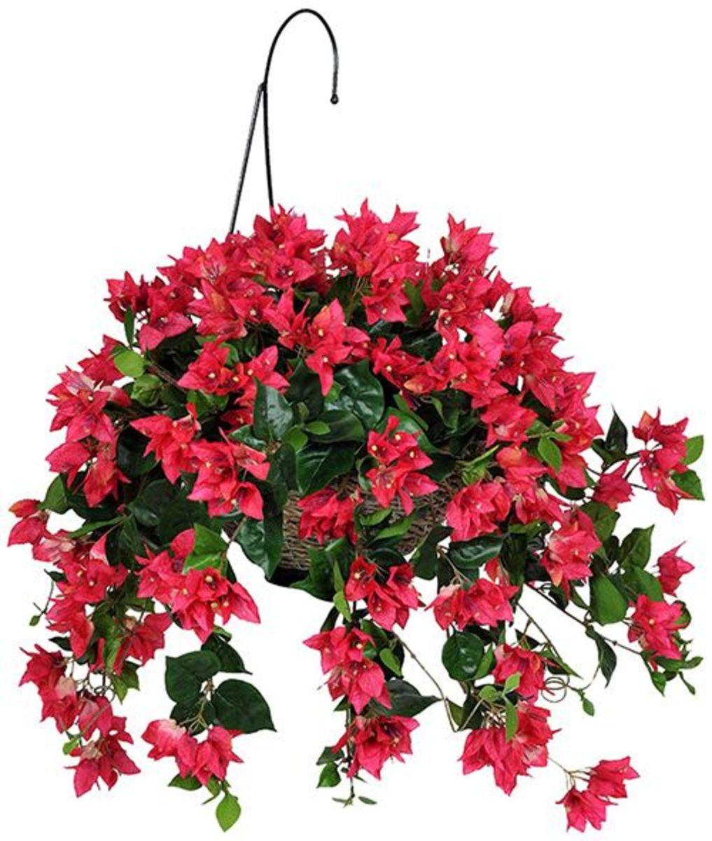 Artificial hanging flower bushes baskets potted plants - Summer hanging basket ideas ...