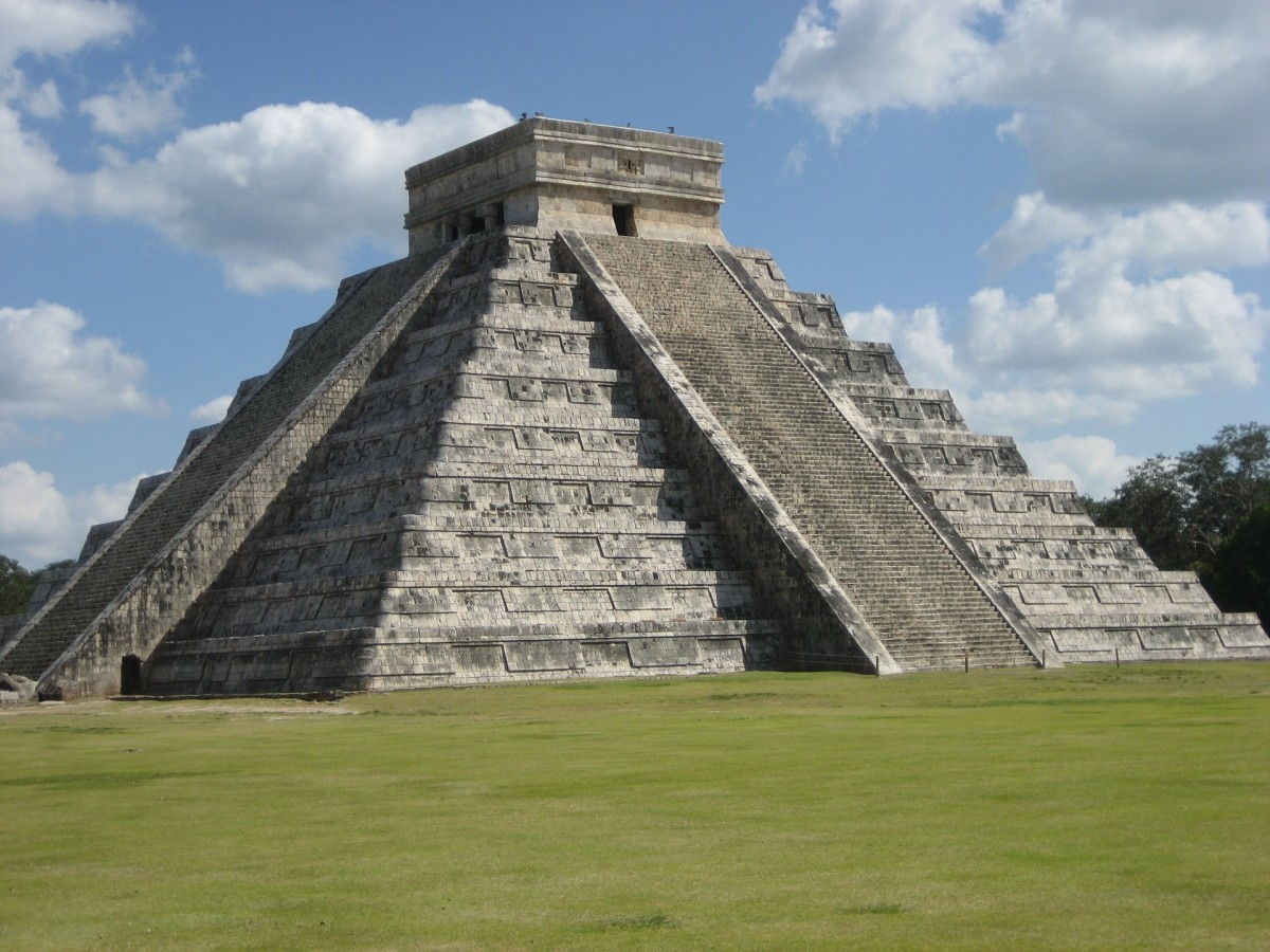 El Castillo, the Mayan Pyramid with 365 Steps to Match Number of Days in a Year.-- Val Karas