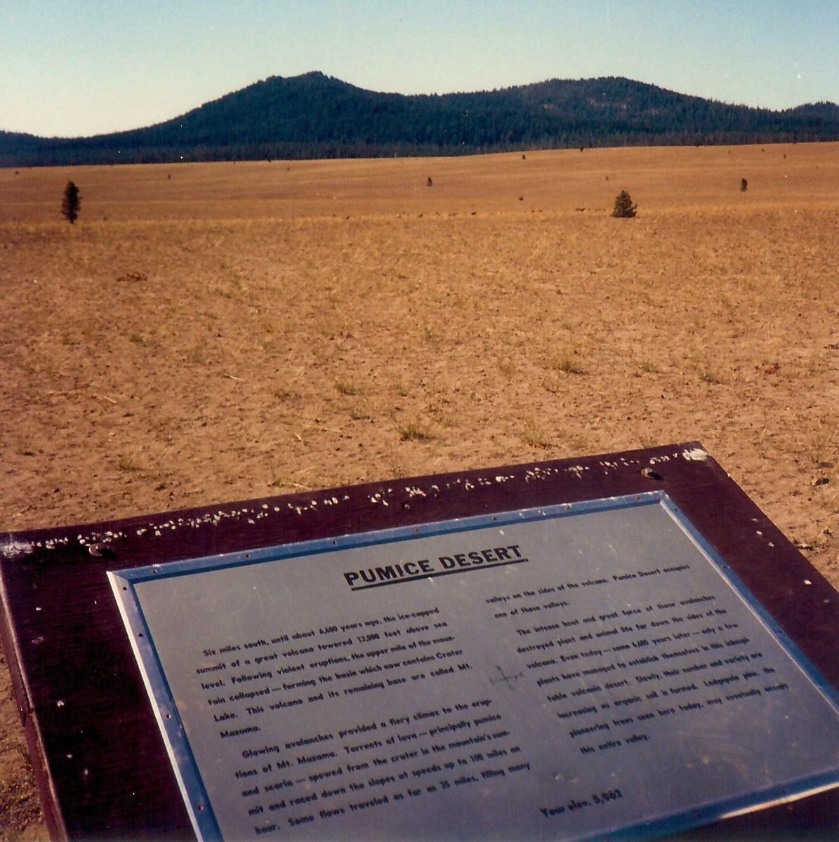 Pumice Desert around Crater Lake