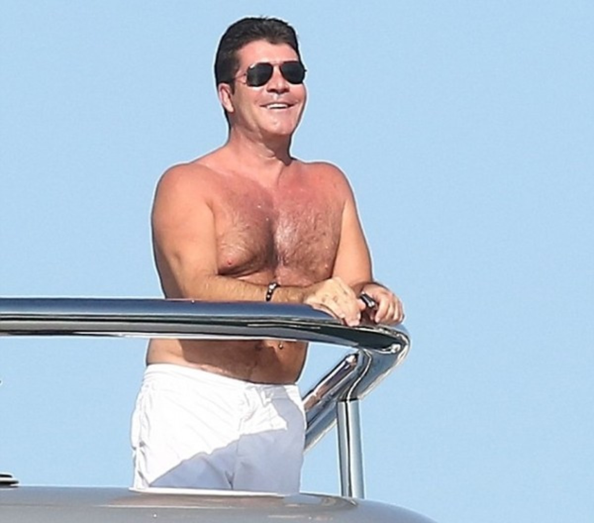 Simon Cowell Chills out in St. Tropez on a Yacht