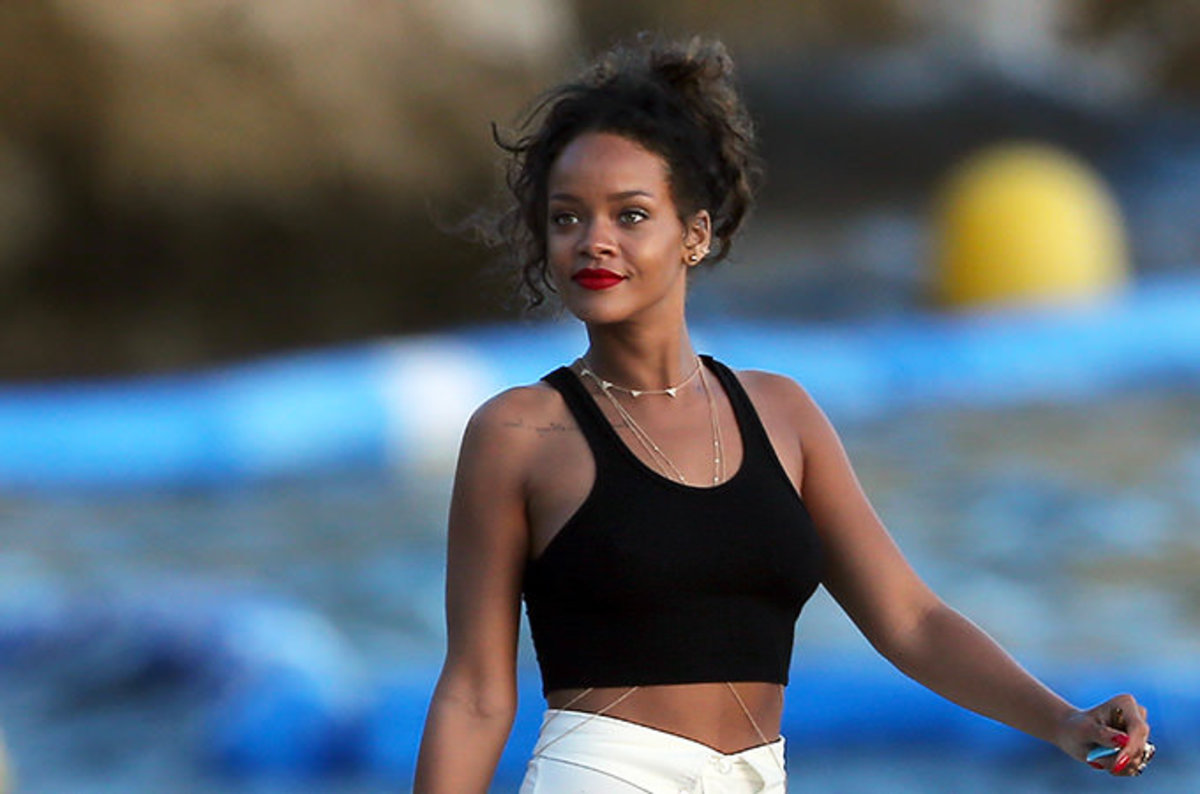 Rihanna Yachting In Saint-Tropez